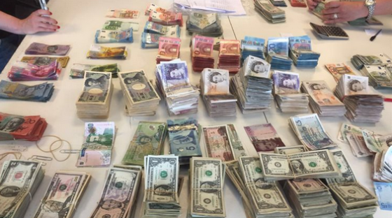 Some of the cash seized by police. Photo: OM.nl