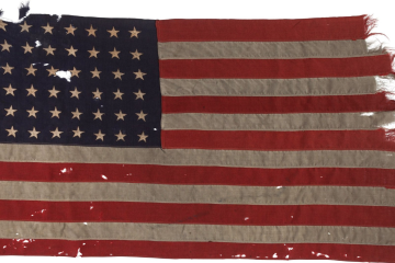Flag which brought US troops ashore in D Day landings goes on show