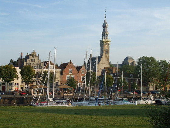 The harbour in Veere. Photo: By Paul 14 via Wikimedia Commons