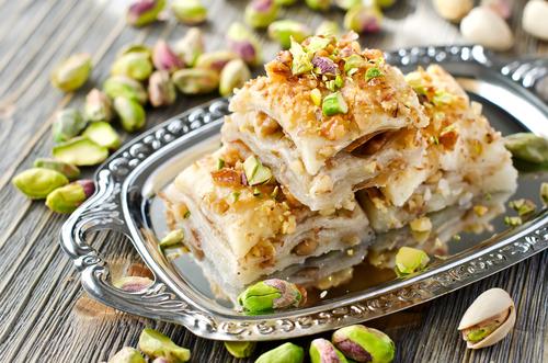 Deposit photos: Turkish dessert of baklava