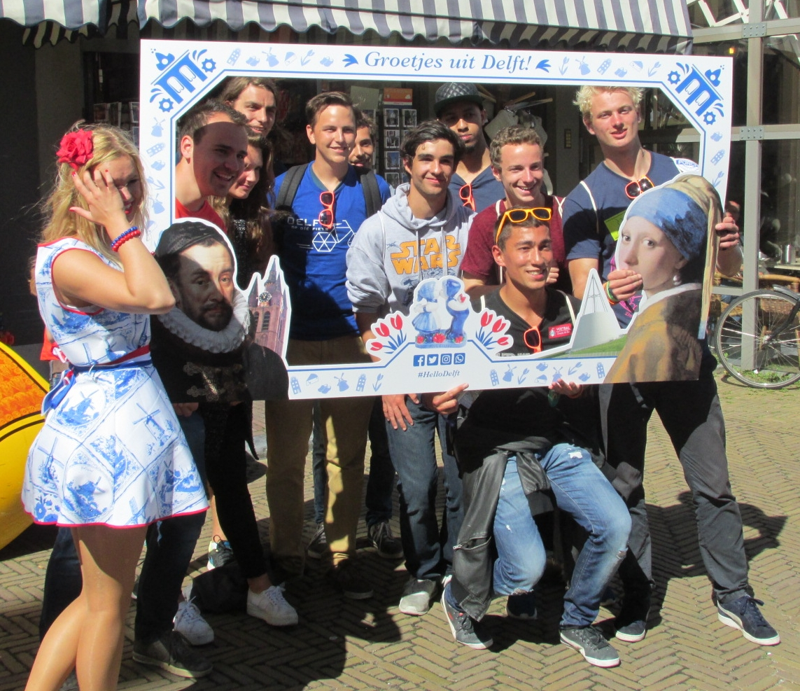 New students in Delft. Photo: Delta