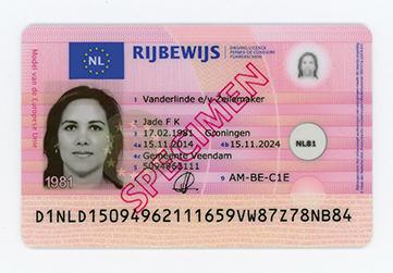 Dutch driving licence specimen