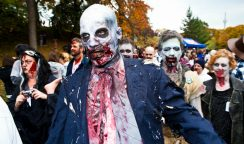 Participants in a zombie walk