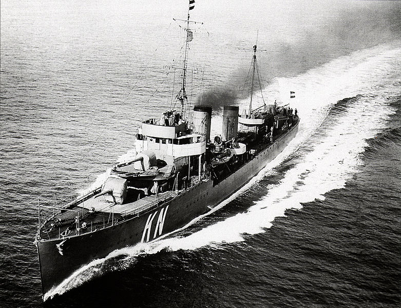 The HNLMS Kortenaer in the 1930s