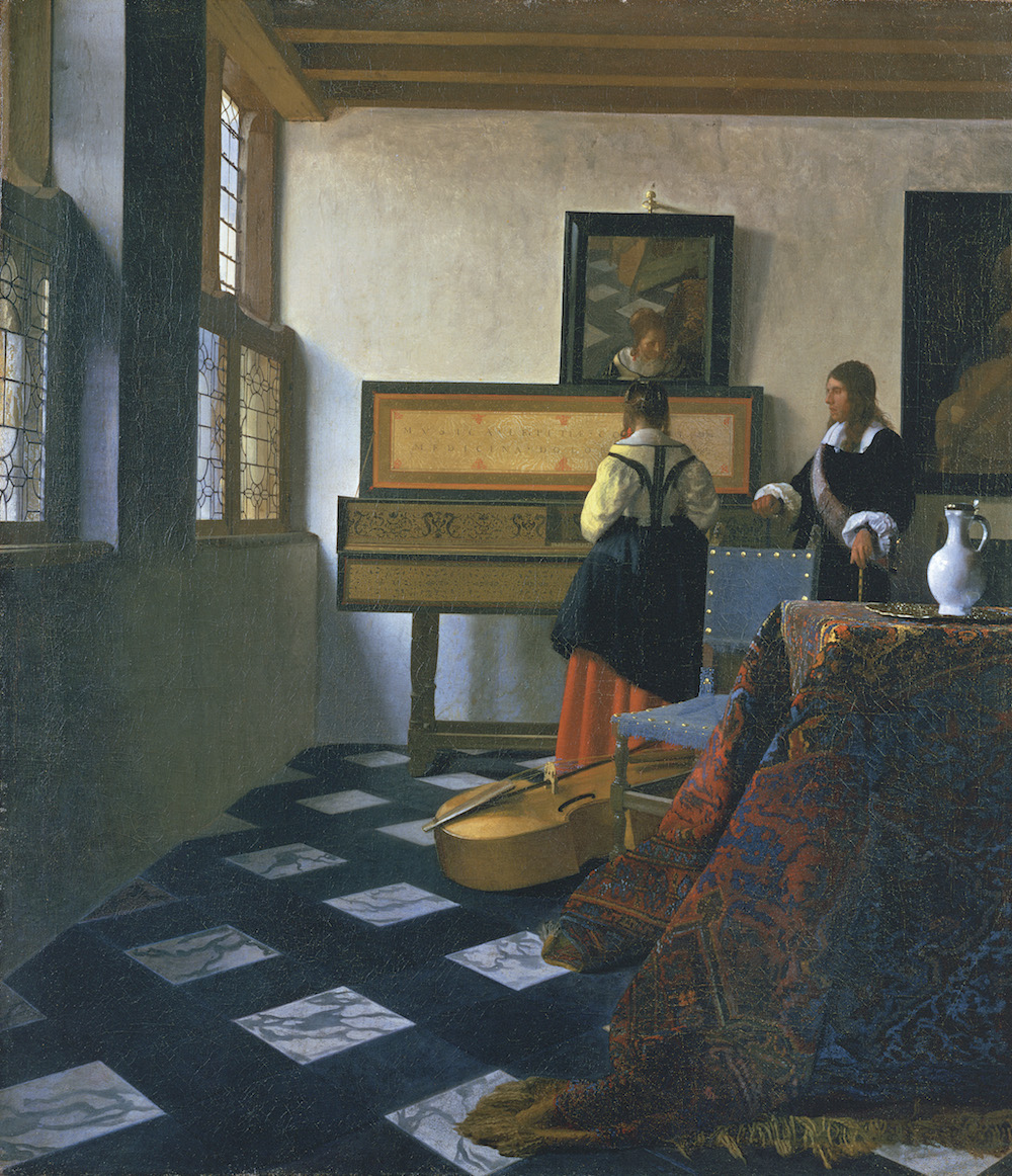 The Music Lesson by Vermeer. Royal Collection Trust/© Her Majesty Queen Elizabeth II 2016