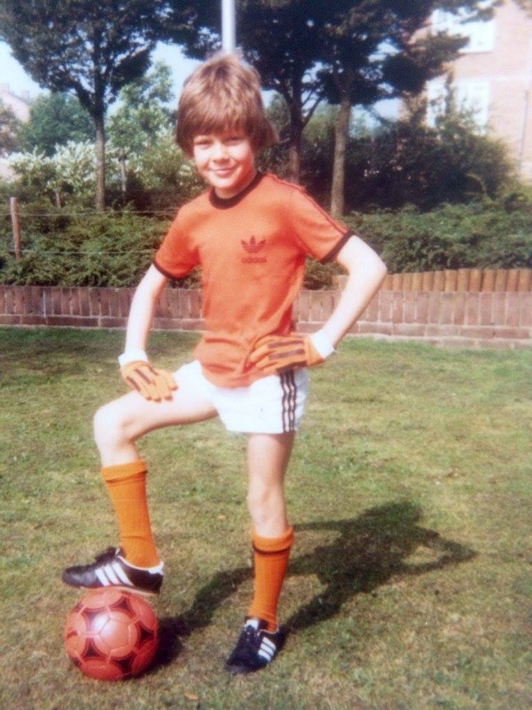 You can't get more Dutch than a proud lad with football and Netherlands strip. We'd just like to know if this would-be Dutch international actually went on to play for Oranje.
