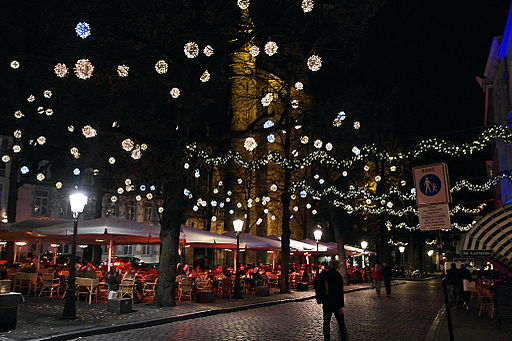 Christmas lights in Maastricht