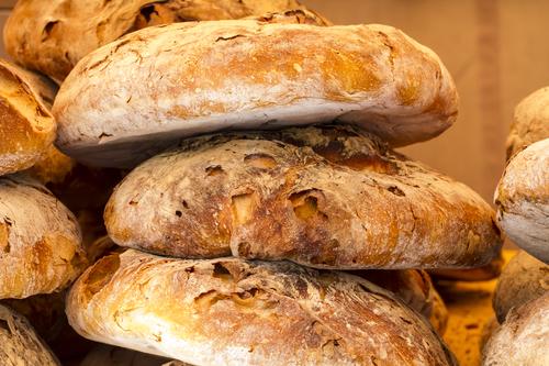 artisan bread in a medieval fair, spain