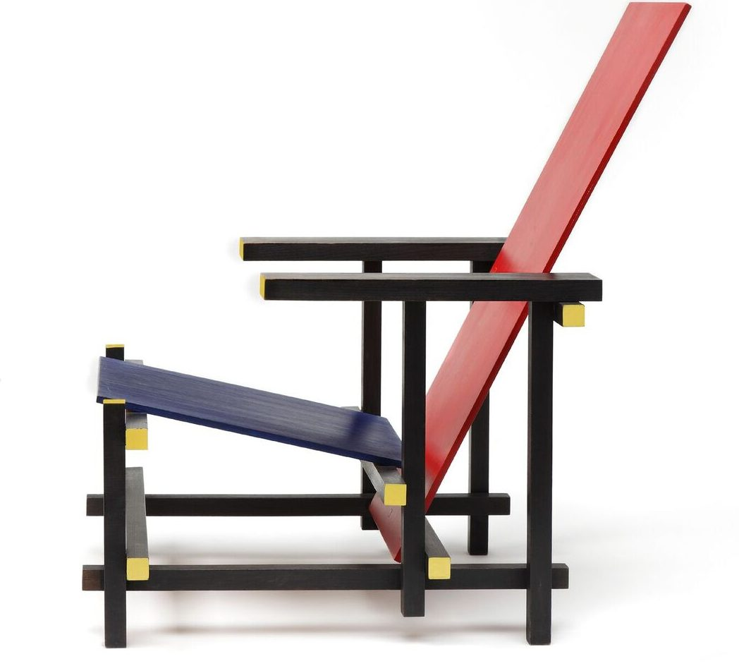 100 Years of De Stijl: Mondriaan to Dutch Design ... Rietveld Red And Blue Chair