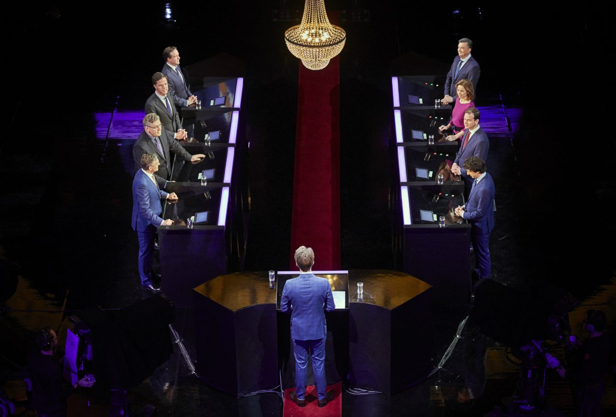 Eight leaders took part in the debate in Amsterdam's Carre Theatre on Sunday evening.