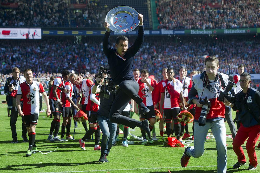 Rotterdams Feyenoord Celebrate First Dutch Eredivisie Title In  Years