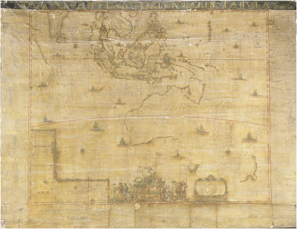 First Map Of Australia.First Dutch Map Of Australia Goes On Display After Long Restoration