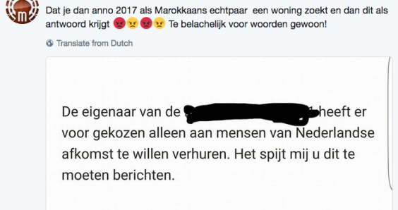 Landlord only wants to rent to 'people of Dutch origin'