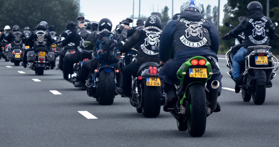 Motorbike gang leader arrested for assault, blackmail and robbery with violence