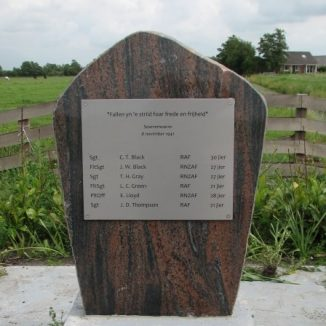 A memorial in Friesland tells the human story of a WWII bomber crew