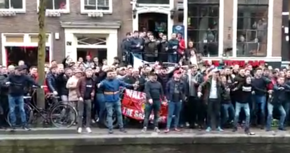 Arrests as English football fans flock to Amsterdam red light district