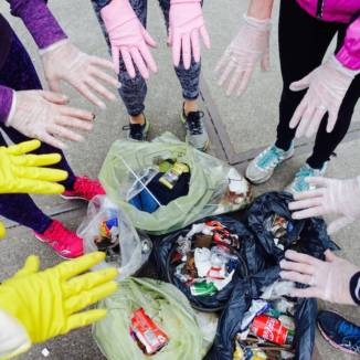 Off for a run? Don't forget your rubber gloves and eye mask!