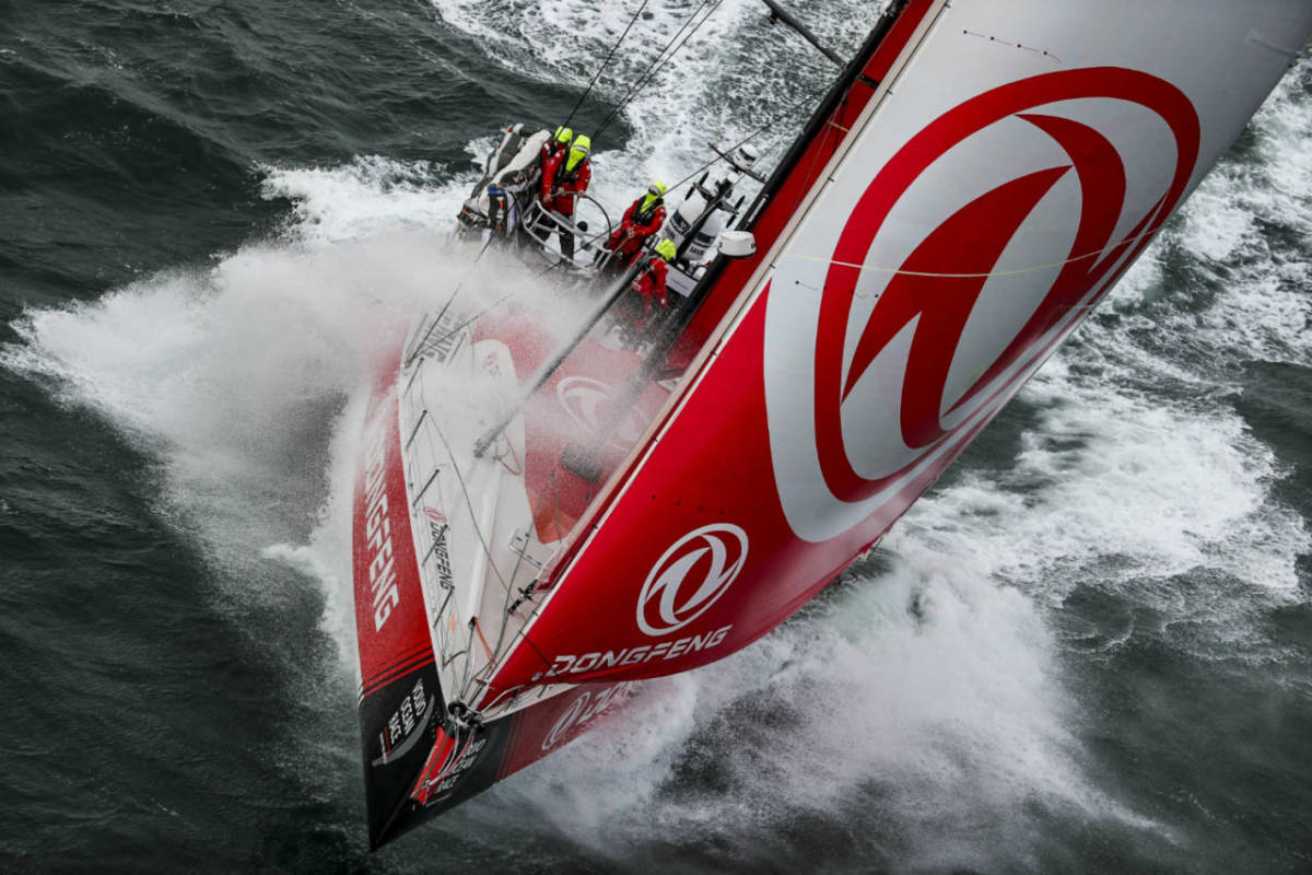 The Dongfeng Race Team yacht that won the Volvo Ocean Race with Dutch sailor Carolijn Brouwer on board