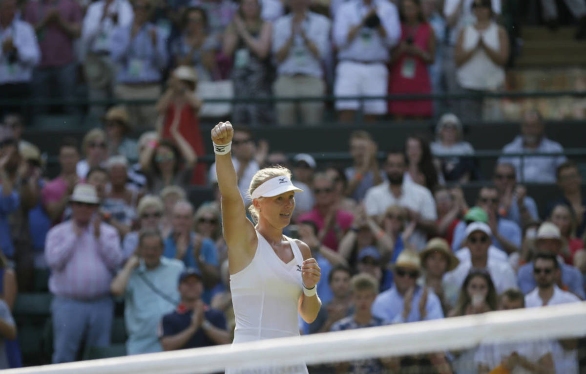 Goerges downs Bertens to set-up Wimbledon semi with Serena
