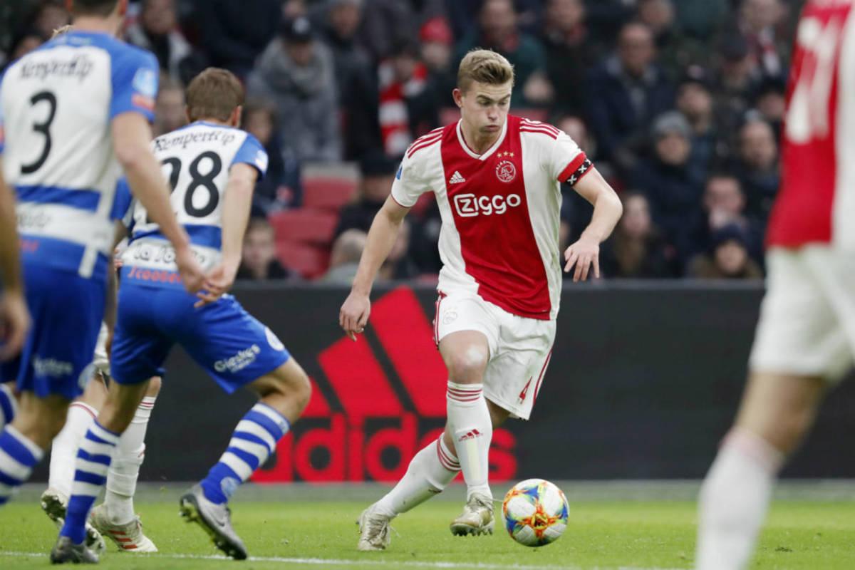 Ajax star De Ligt wins Golden Boy award