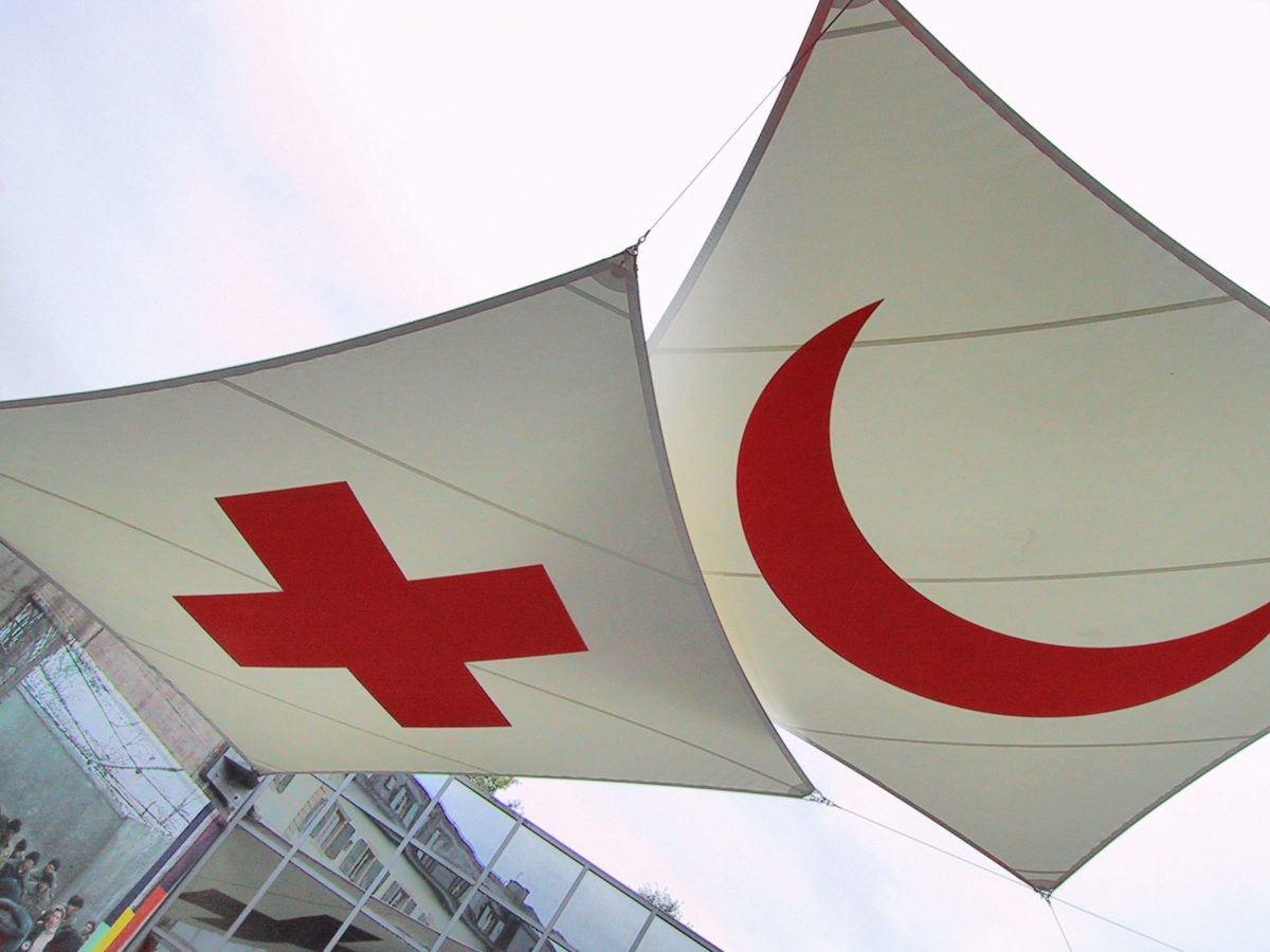 Red Cross and Red Crescent logos