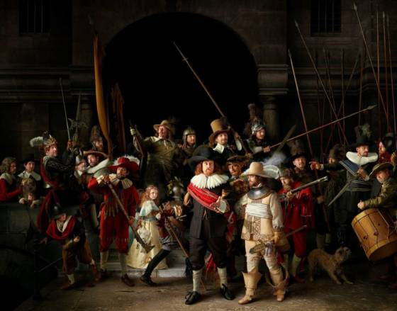The Night Watch recreated: photographer makes replica from