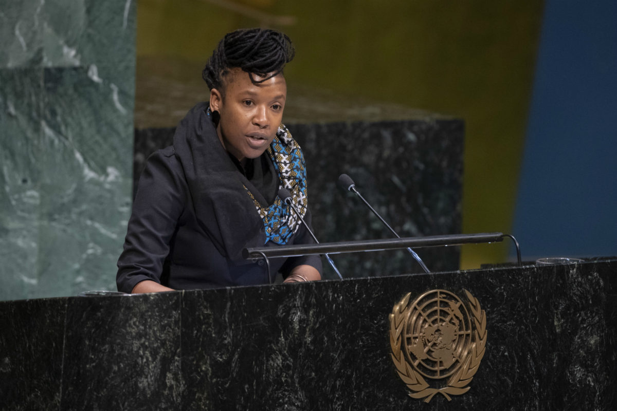 UN rapporteur on racism and racial discrimination Tendayi Achiume at the United Nations in New York