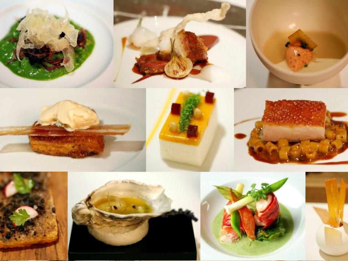 assorted Michelin star restaurant dishes