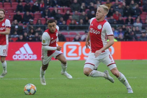 Ajax striker Donny van de Beek, who scored twice against Utrecht.