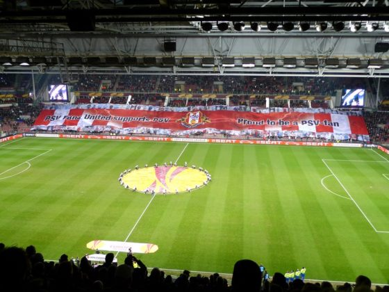 Overview of the Philips Stadium before a game