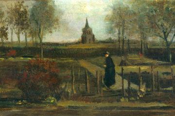 Detail from stolen painting by Vincent van Gogh: Parish Garden in Nuenen, Spring