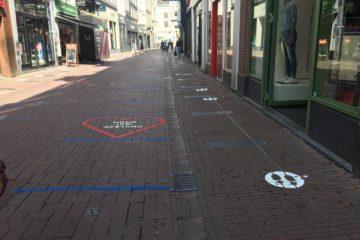 Shared space in Kalverstraat, Amsterdam
