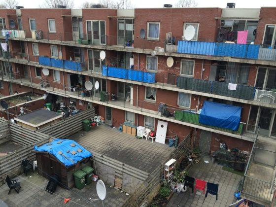 Social housing in s-Gravenzandelaan in Schilderswijk, The Hague.