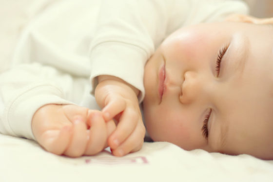 Close-up of a baby sleeping