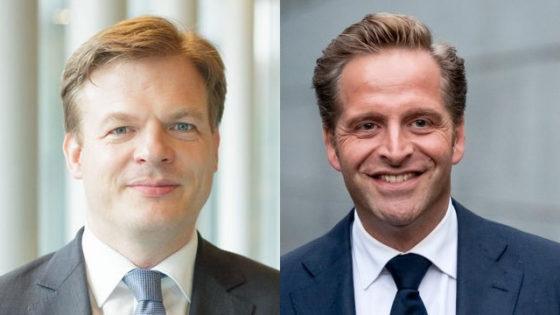 Portraits of Pieter Omtzigt and Hugo de Jonge