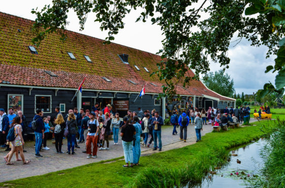 Tourists at the Zaanse Schans before the coronavirus outbreak