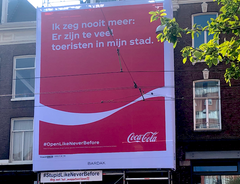 Ad falls flat: Coca-Cola to remove 'inappropriate' Amsterdam tourism banner - DutchNews.nl