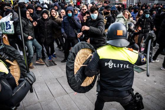 Dutch anti-lockdown rioters set fire to village's Covid testing centre