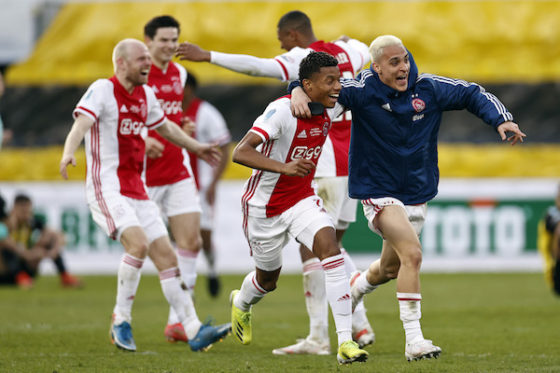 Ajax win Dutch cup for the 20th time with 2-1                   victory over Vitesse